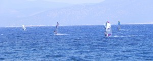 Windsurfing at Kalloni gulf