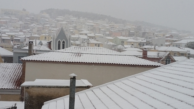 lesvos in white _mytilene mountain